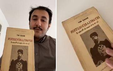 """Fransa dövlət arxivindən Azərbaycanlı yazıçının kitabı tapılıb –<span style=""""color: red""""> Foto</span>"""
