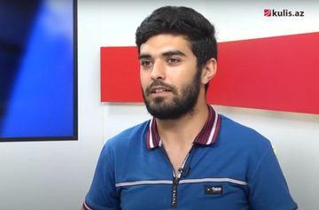 """Universiteti atıb əsgərliyə gedən gənc yazar: """"Şeir ölüb"""" - <span style=""""color: red"""">Video</span>"""